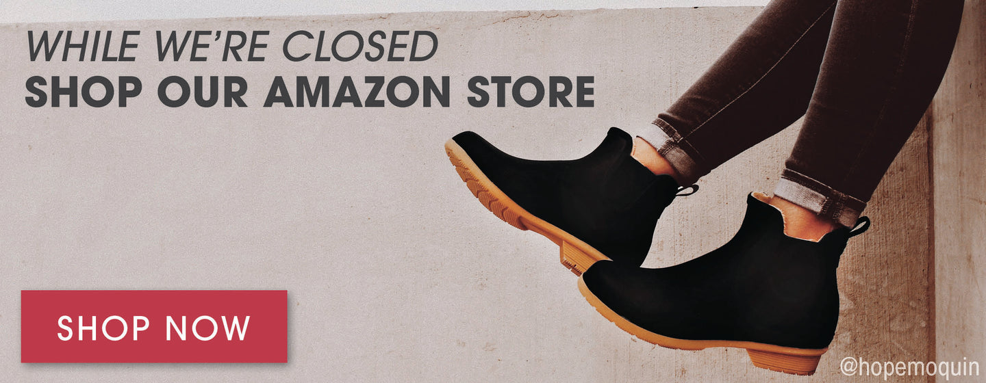 While we're closed shop our Amazon store - Link
