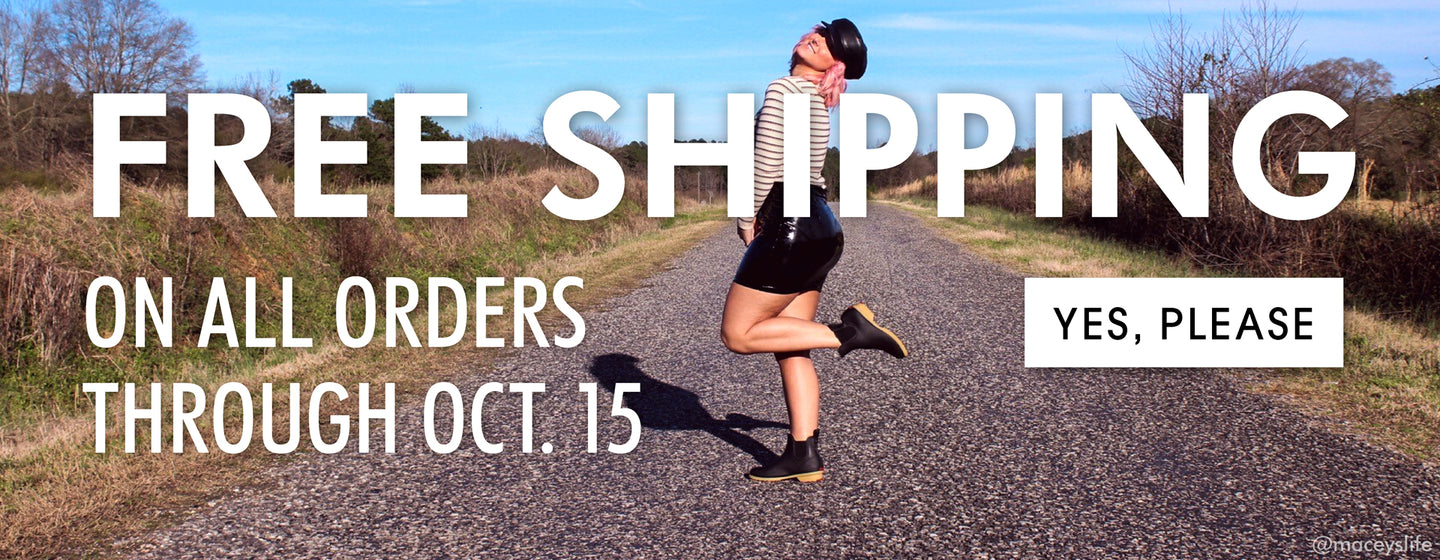 Free shipping sitewide. Click here to shop now.