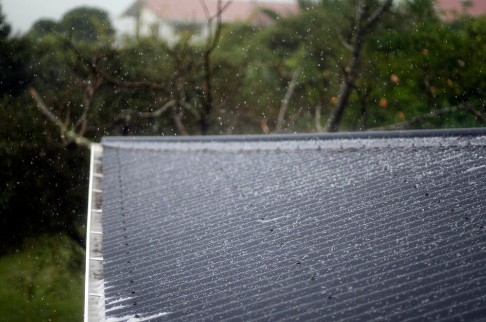 Rainy Day Solar Installation