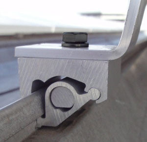 SnapNrack Metal Roof Seam Clamp & L-Foot Assembly
