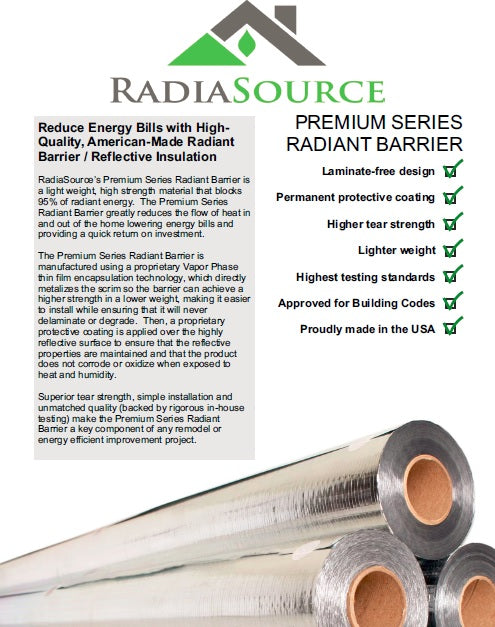 "Copy of RadiaSource Bulk Roll  51""x118"" Perforated"