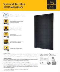 SolarWorld Mono Black-275 Watt