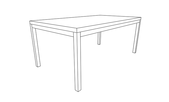 Classic Straight Leg Dining Table