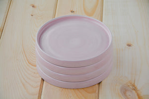 Pink Side Plates - Set of Four - Miller & Co. Wood Studio