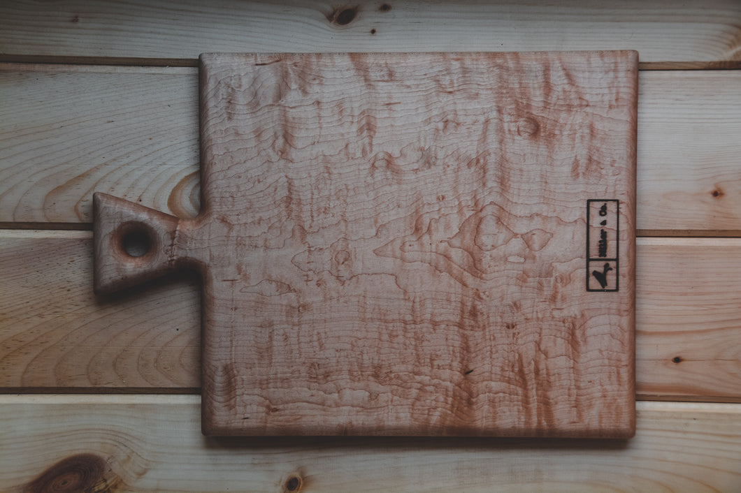 Curly Maple Serving Board - Miller & Co. Wood Studio
