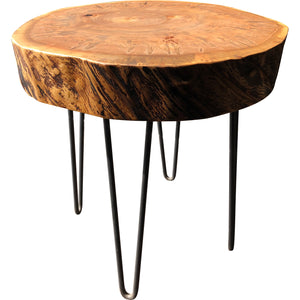 Tree Round Side Table - Miller & Co. Wood Studio