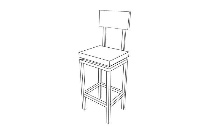 Swivel Square Bar Stools with Backs