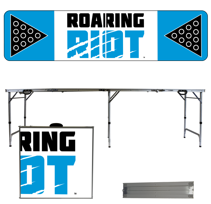 Roaring Riot Pong Table