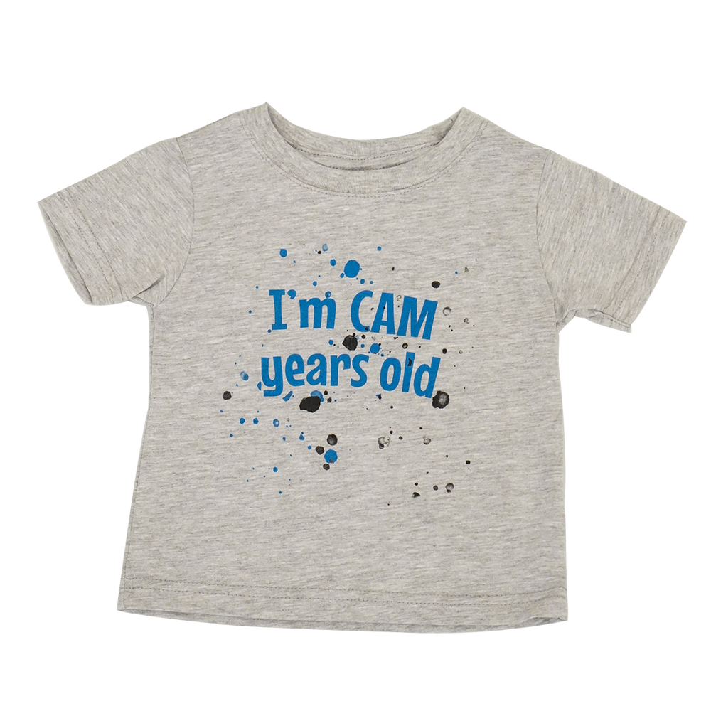 I'm Cam Years Old Toddler Shirt