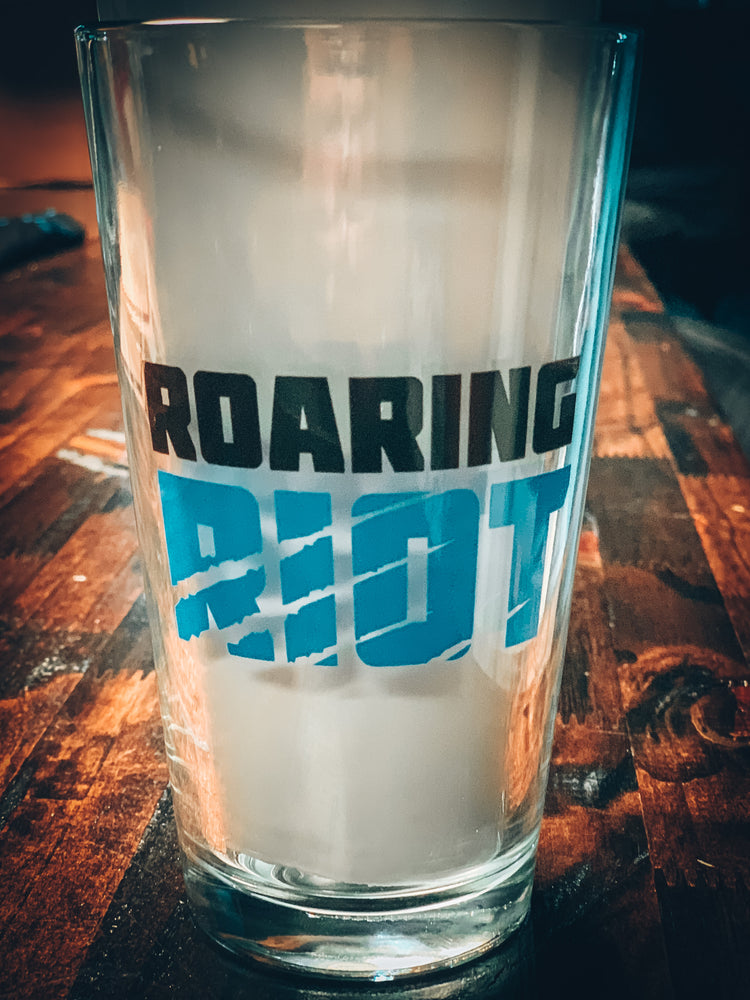 Roaring Riot Pint Glass