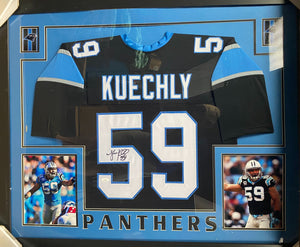 Luke Kuechly Signed Framed Jersey Sweepstakes!
