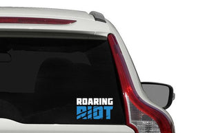 Roaring Riot Stacked Logo Vinyl Decal