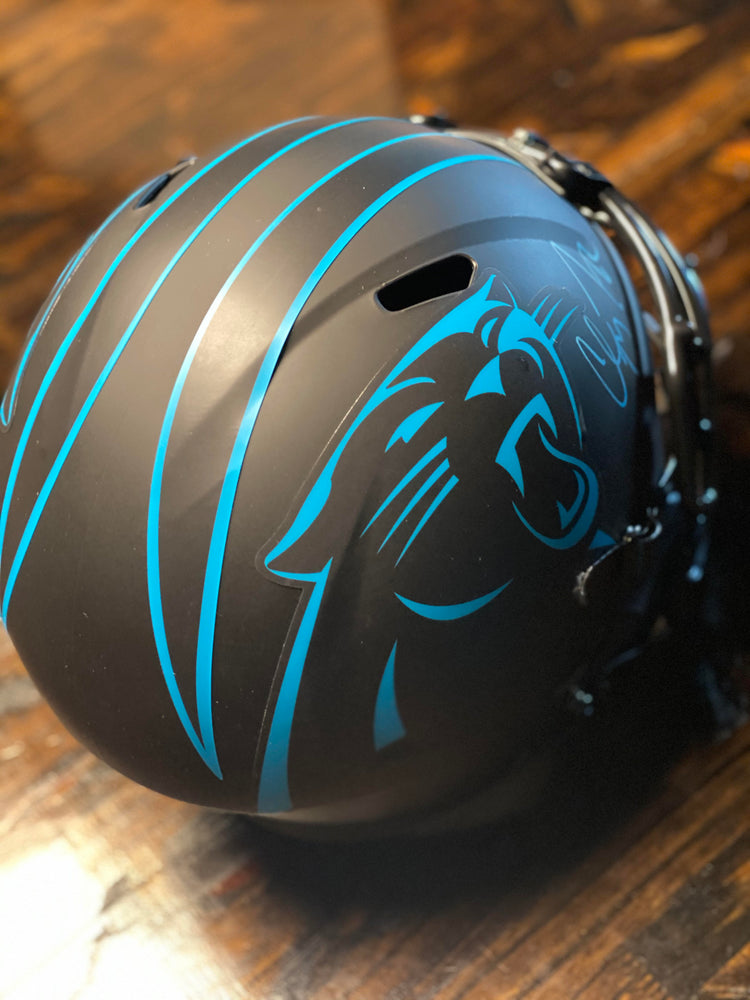 Christian McCaffrey Signed Black Helmet Sweepstakes!