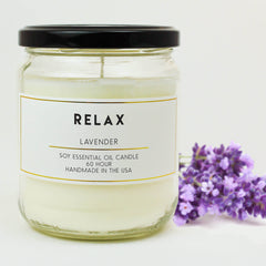 acdc relax lavender aromatherapy essential oil soy candles