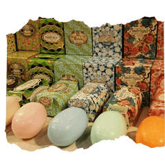 Claus Porto Hand Wrapped Bar Soaps in Colorful Packaging