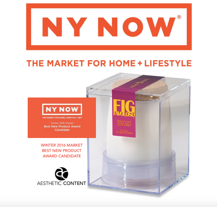 Aesthetic Content Fig Favoloso Home Fragrance Candidate for NY NOW's Best New Product