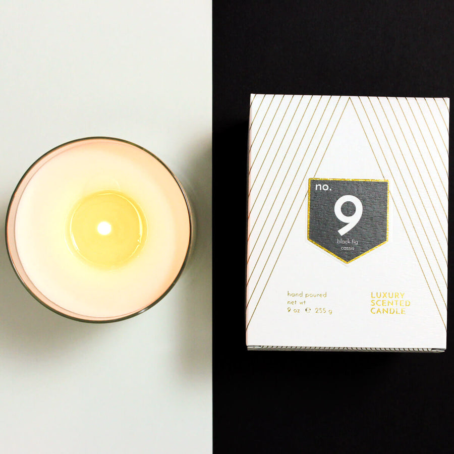 No. 9 Black Fig Cassis Currant Scented Soy Wax Candle - ACDC Co