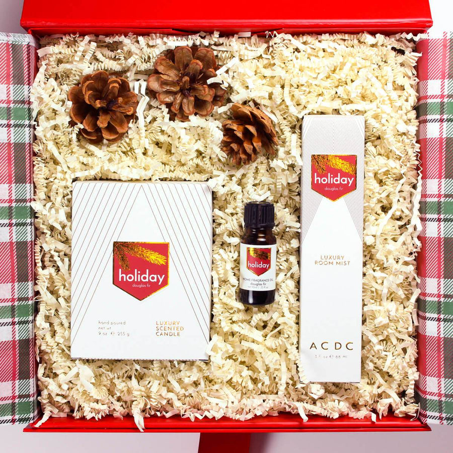Holiday 3 Piece Home Fragrance Gift Box - ACDC Co