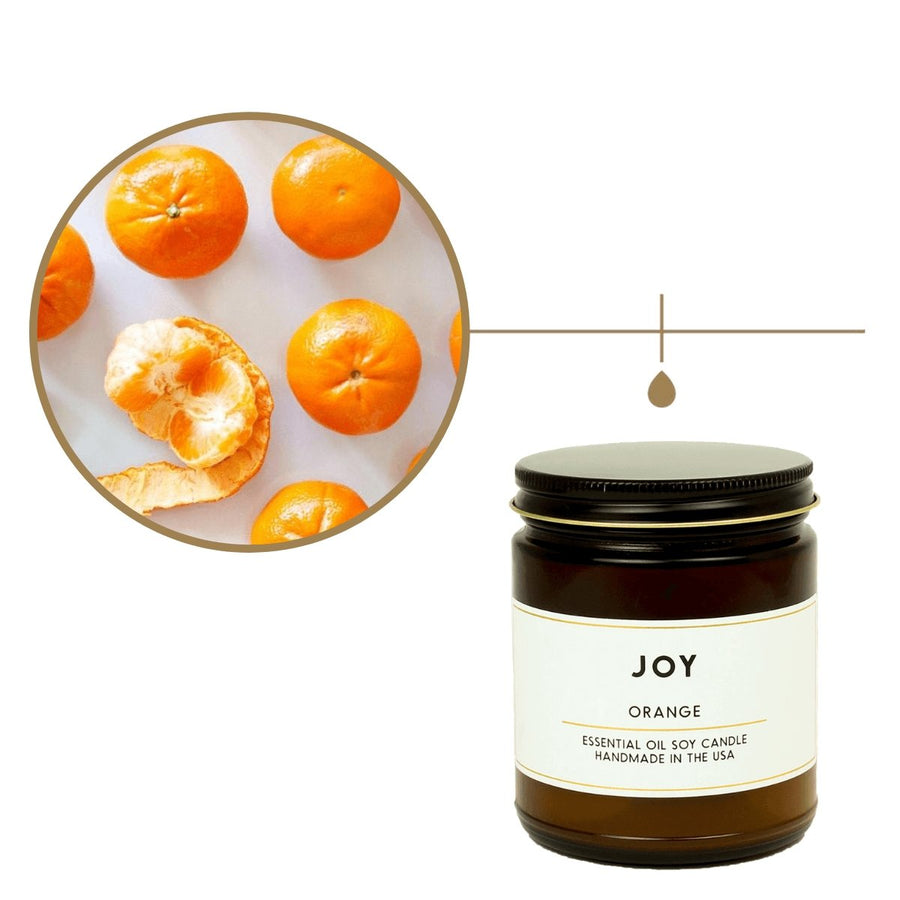 Joy Orange Essential Oil Aromatherapy Candle - ACDC Co