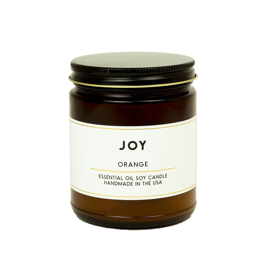 2001159 ACDC Co Joy Orange Essential Oil Aromatherapy Apothecary Scented Soy Wax Jar Candle
