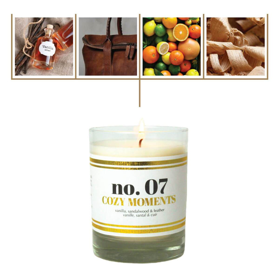 No. 07 Cozy Moments Scented Soy Candle - A C D C
