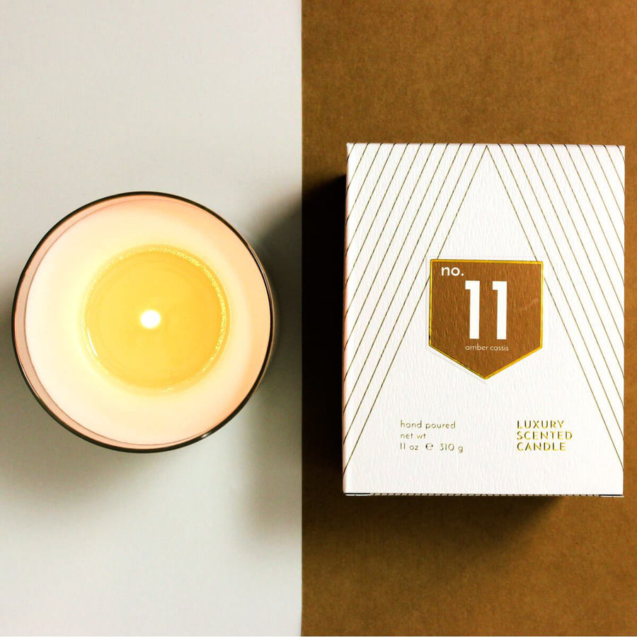 No. 11 Amber Cinnamon Scented Soy Candle - ACDC Co