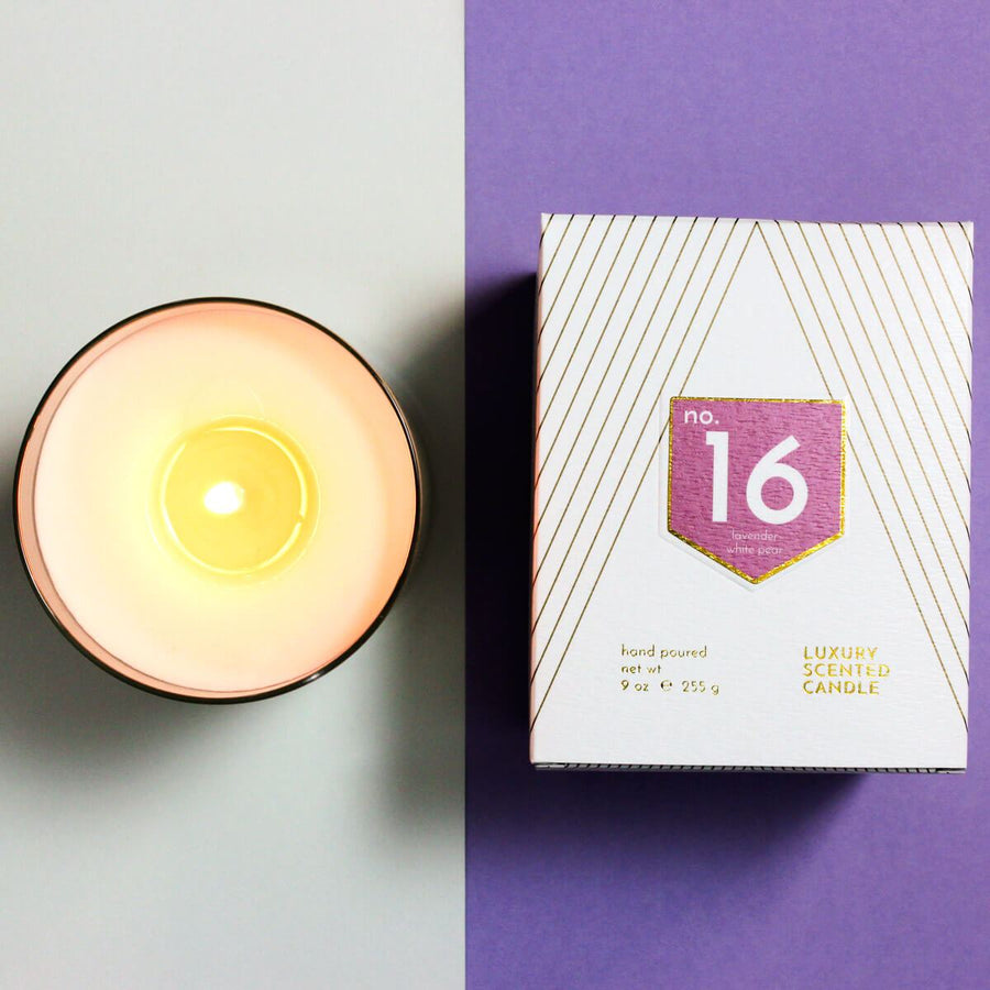No. 16 Lavender White Pear Scented Soy Candle - ACDC Co