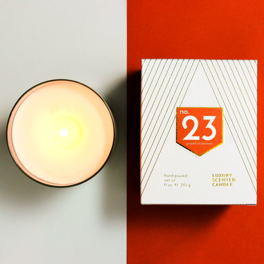 No. 23 Grapefruit Jasmine Scented Soy Candle - ACDC Co