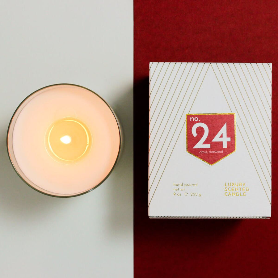 No. 24 Citrus Rosewood Scented Soy Candle - ACDC Co