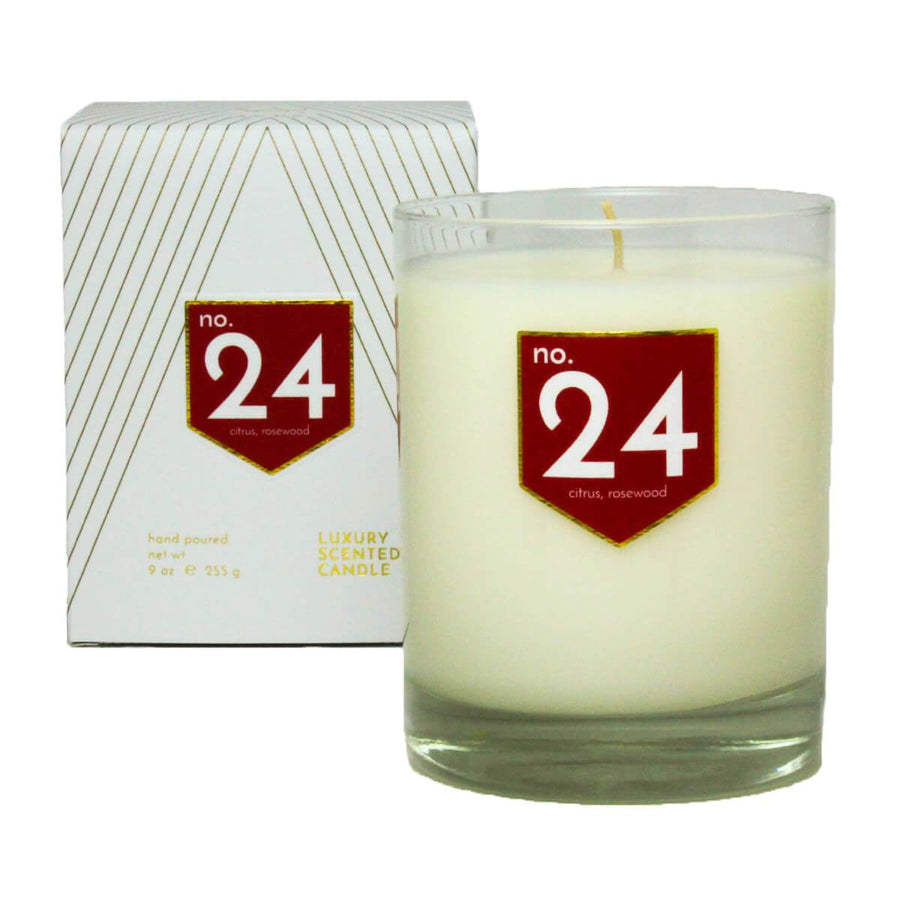 No. 24 Citrus Rosewood Scented Soy Candle - A C D C