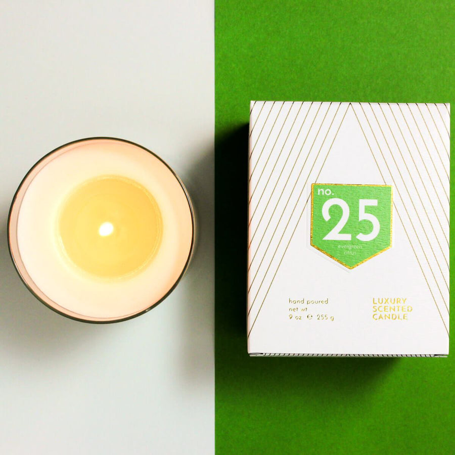 No. 25 Evergreen Citrus Scented Soy Candle - ACDC Co