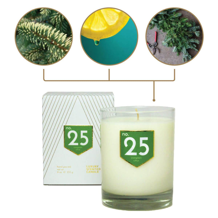 No. 25 Evergreen Citrus Scented Soy Candle - A C D C