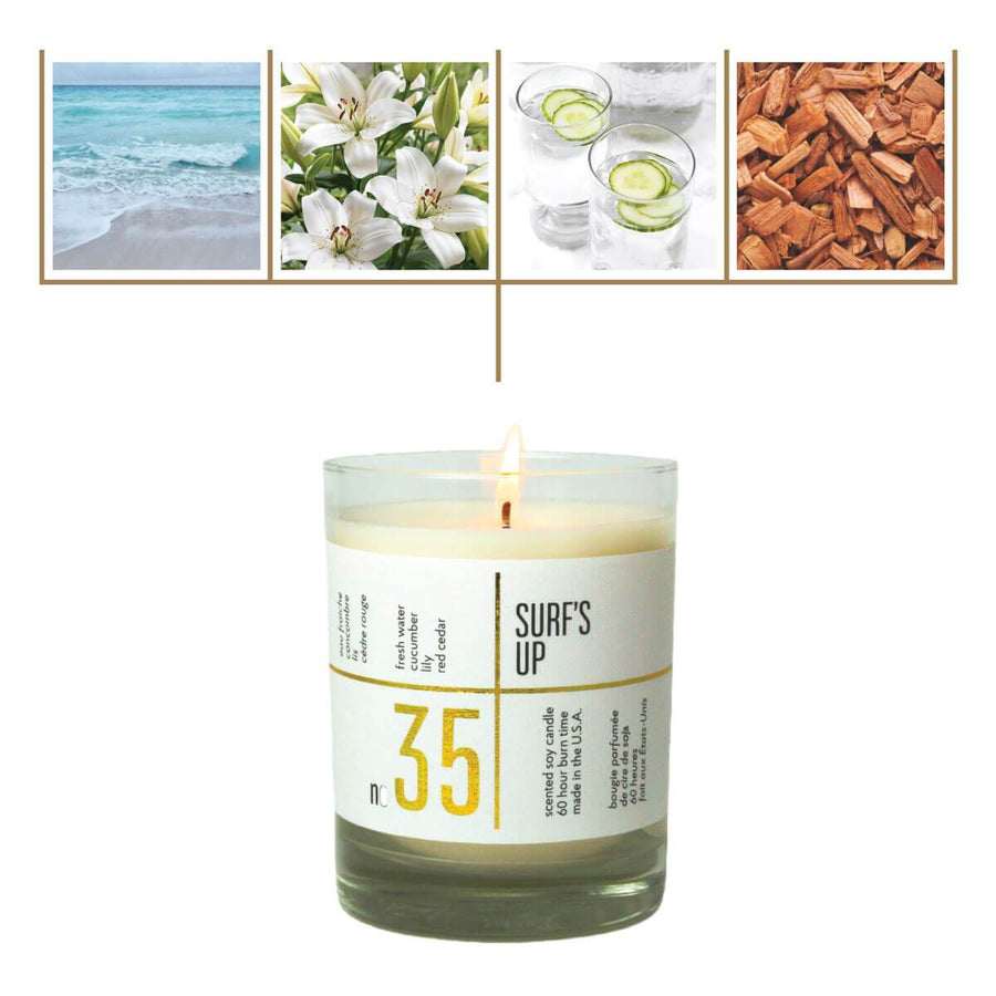 No. 35 Surf's Up Scented Soy Candle - A C D C