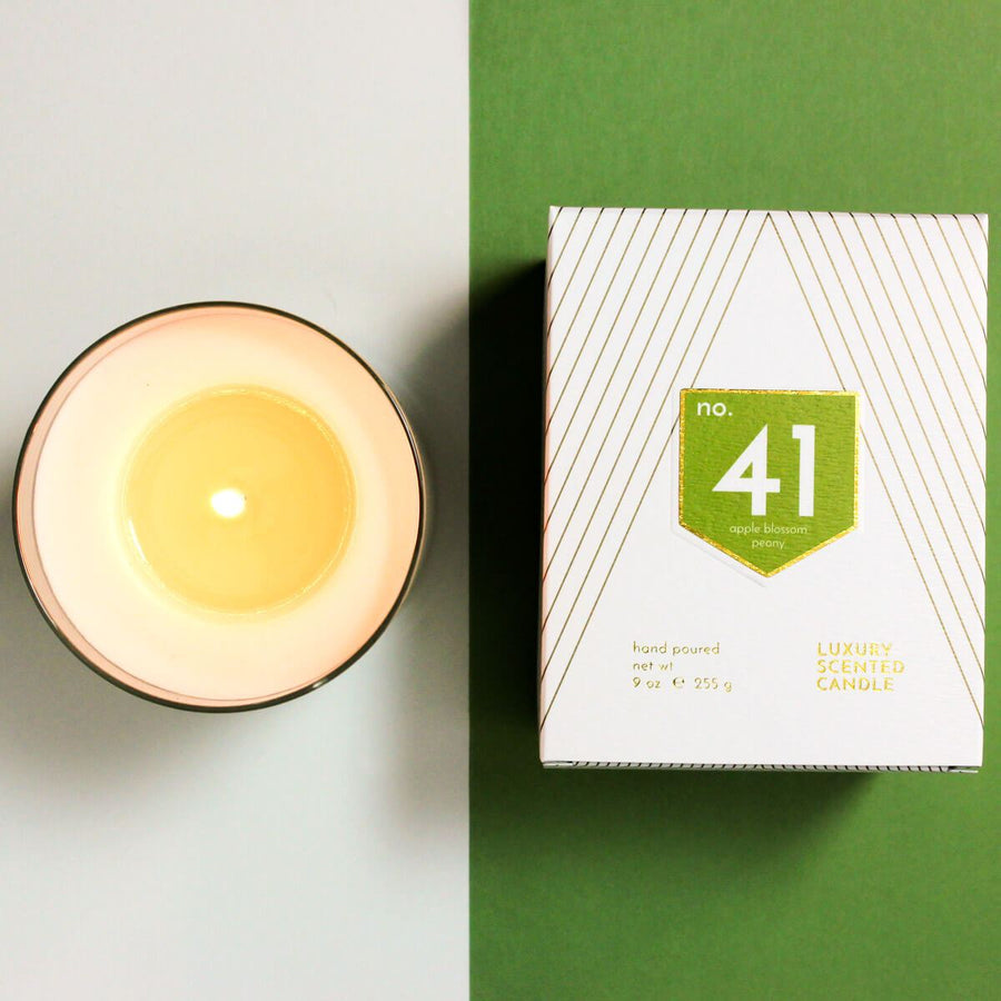 No. 41 Apple Peony Scented Soy Candle - ACDC Co