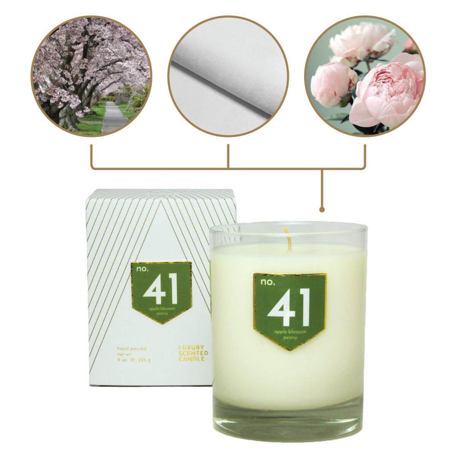 No. 41 Apple Peony Scented Soy Candle - A C D C