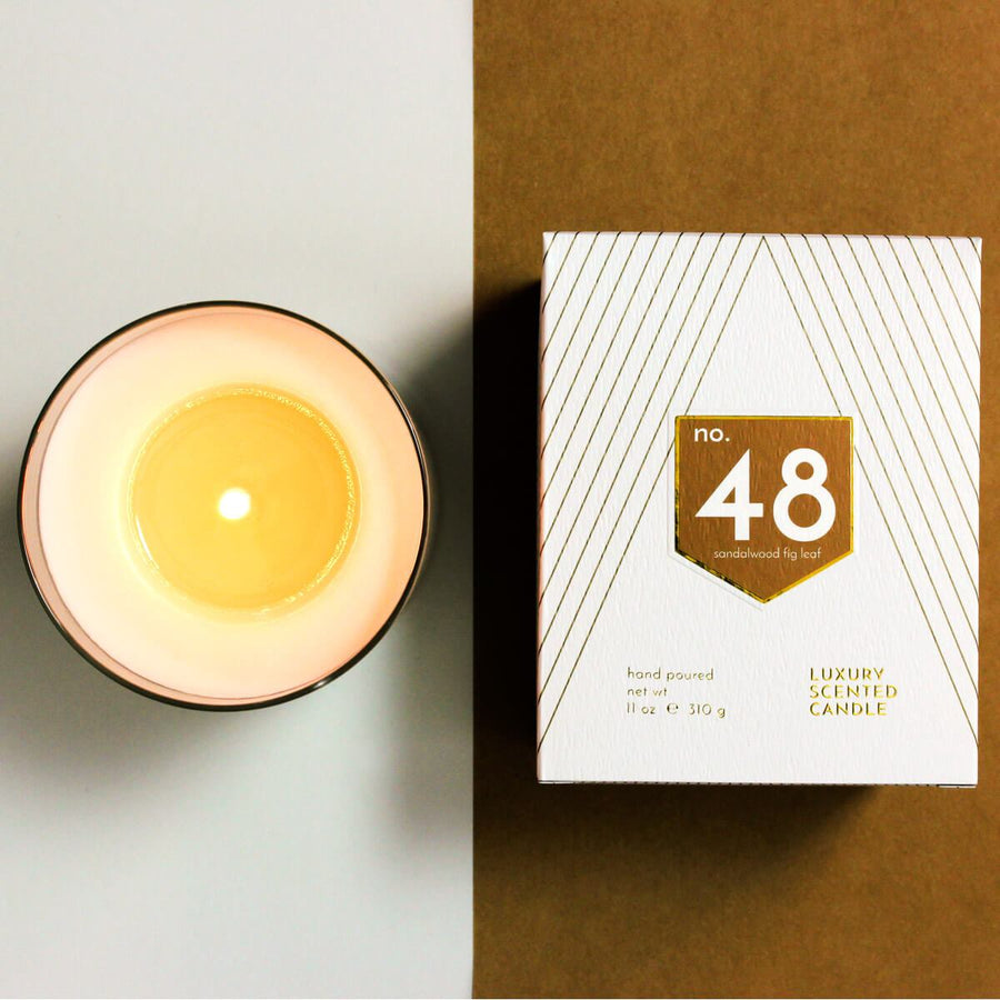 No. 48 Sandalwood Fig Leaf Scented Soy Candle - ACDC Co