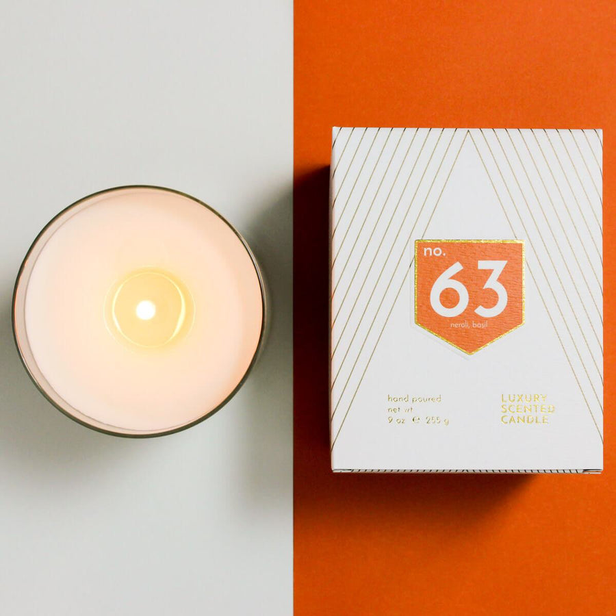 No. 63 Neroli Basil Scented Soy Candle - ACDC Co
