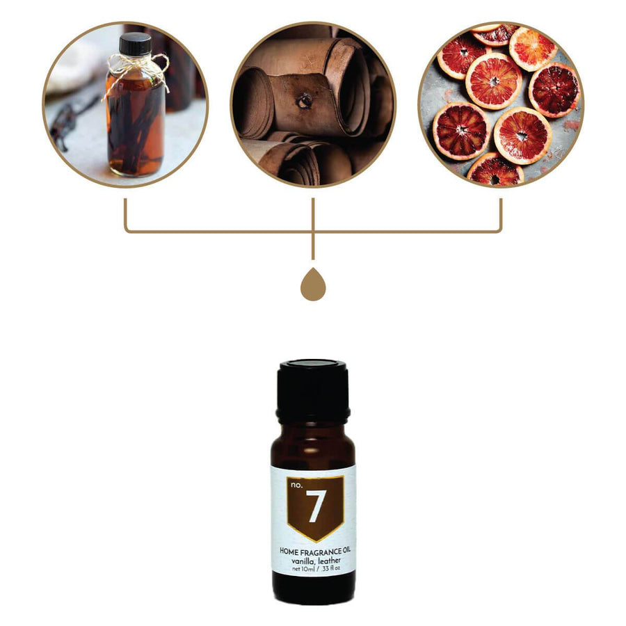No. 7 Vanilla Leather Home Fragrance Diffuser Oil - A C D C