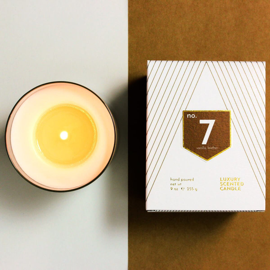 No. 7 Vanilla Leather Scented Soy Candle - ACDC Co
