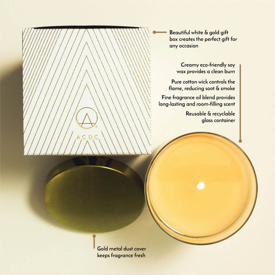 No. 9 Black Fig Cassis Scented Soy Candle - ACDC Co
