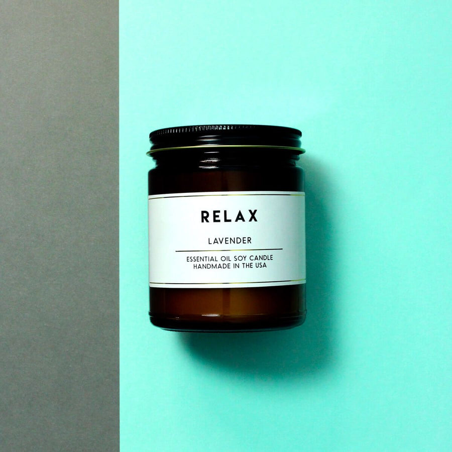 Relax Lavender Essential Oil Aromatherapy Candle - ACDC Co