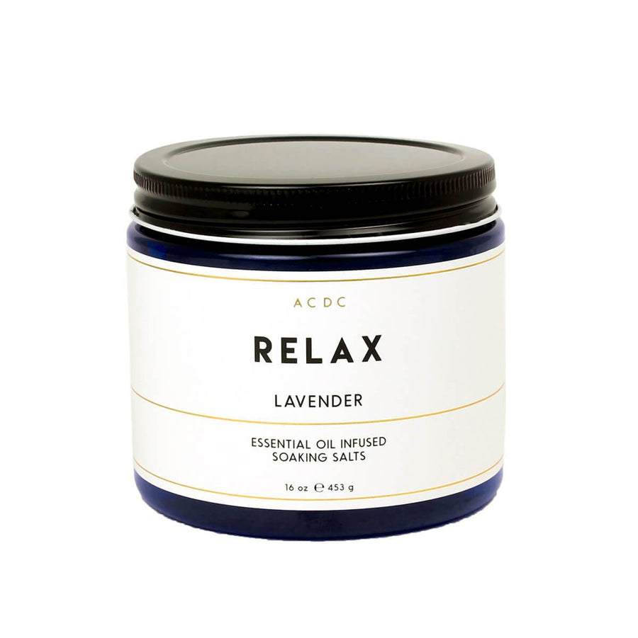 Relax Lavender Essential Oil Bath Soaking Salts - ACDC Co