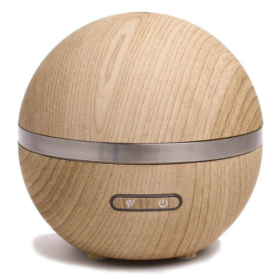 Round Wood Grain Ultrasonic Aromatherapy Diffuser - A C D C