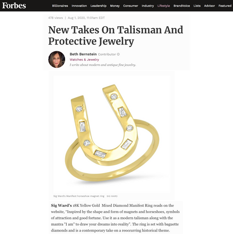 Sig Ward Jewelry as featured on Forbes