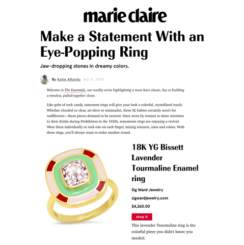 Sig Ward Jewelry as featured on Marie Claire US
