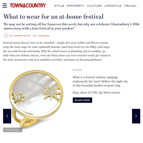 Sig Ward Jewelry as featured on Town & Country UK