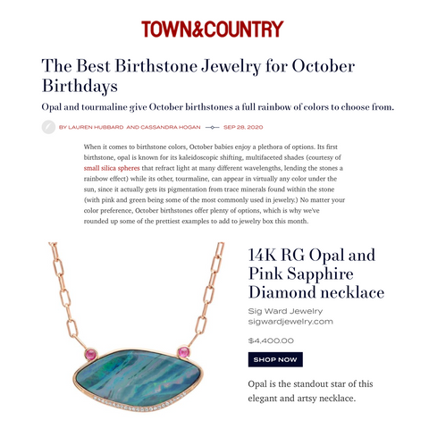 Sig Ward Jewelry as featured on Town & Country