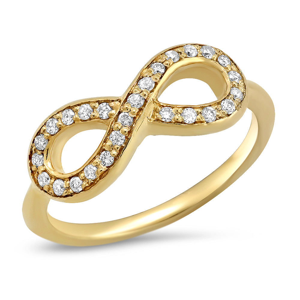 14K Infinity Midi Diamond Ring