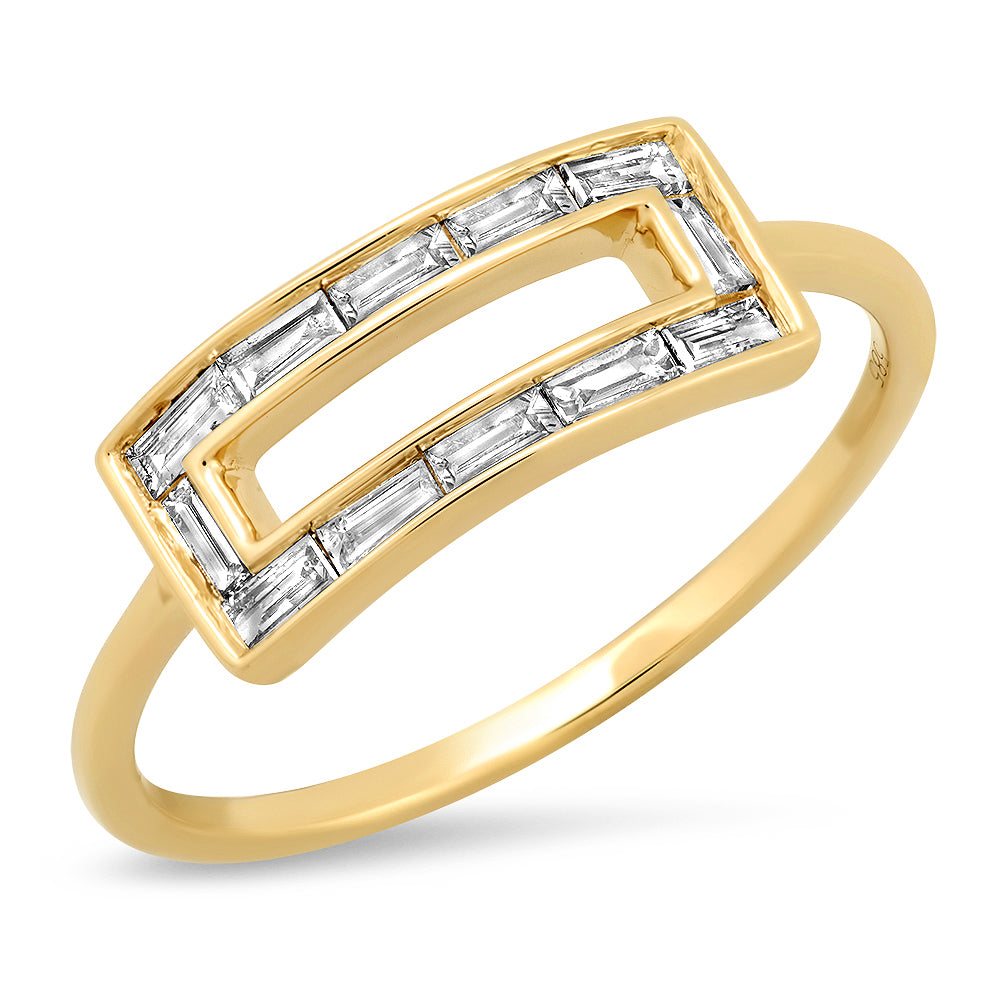14K Gaia Diamond Baguette ring