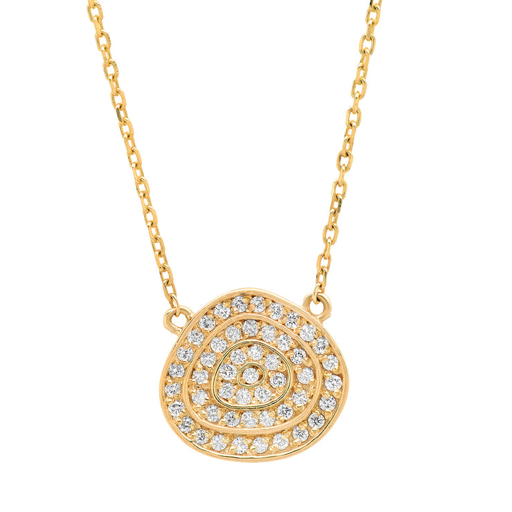 14K Diamond Swirl Necklace